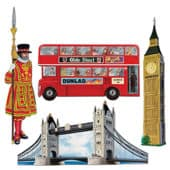 British Decorative Cutouts – 16 Inches / 41cm – Pack of 4