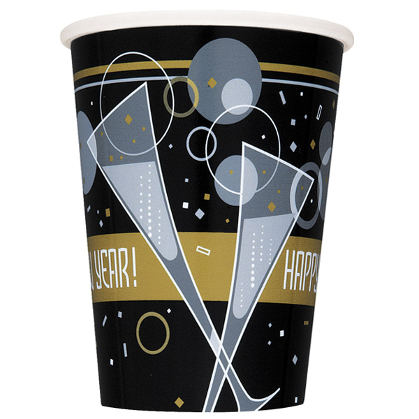 Bubbly Happy New Year Paper Cup - 9oz / 266ml