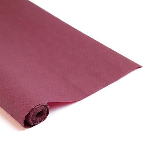 Burgundy Paper Banquet Roll - 25m x 1.2m