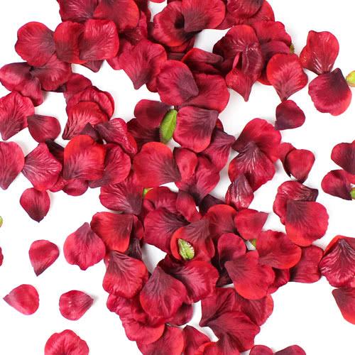 Burgundy Fabric Rose Petals