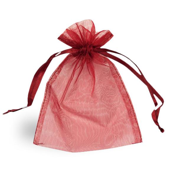 Burgundy Organza Bag