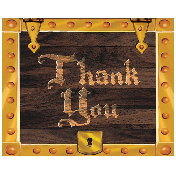 buried-treasure-thanks-you-cards-with-envelopes-pack-of-8-product-image