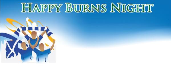 Burns Night Celebration Design Small Personalised Banner - 4ft x 2ft