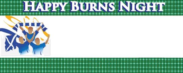 Burns Night Green Tartan Celebration Design Small Personalised Banner - 4ft x 2ft