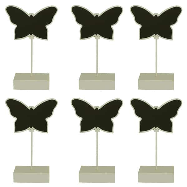 Butterfly Place Card Holder Chalk Board in Ivory - Pack of 6