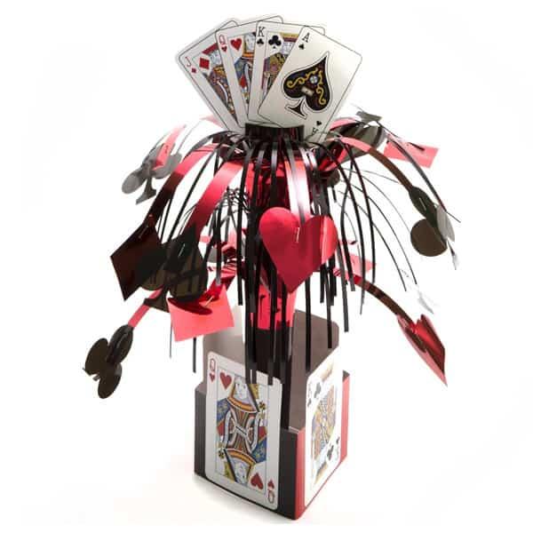 Card Night Mini Foil Cascade Centrepiece