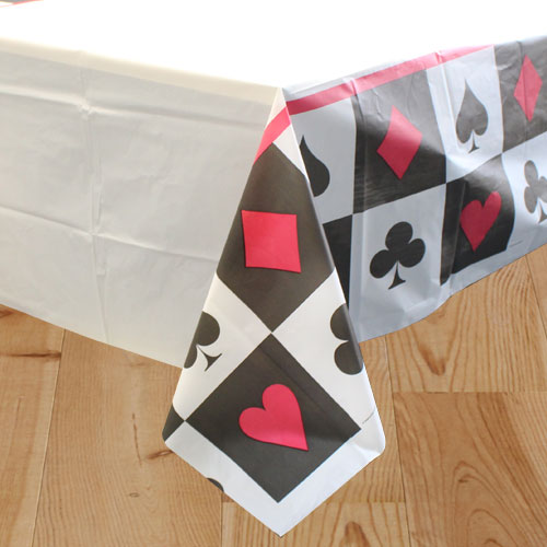 Card Night Plastic Tablecover - 137cm x 274cm Product Image