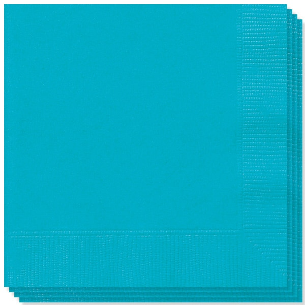 Caribbean Teal 2 Ply Napkins - 13 Inches / 33cm - Pack of 100