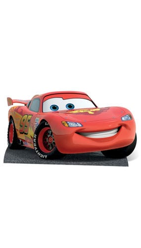 Cars Lightning McQueen Lifesize Cardboard Cutout - 86cm Product Gallery Image