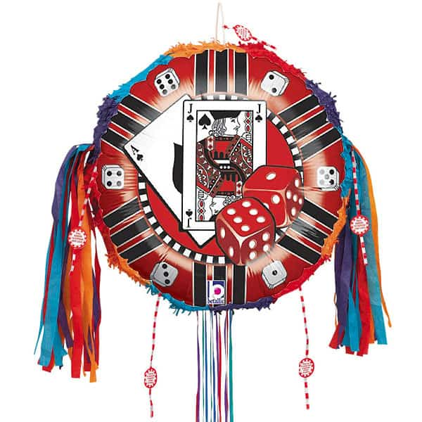 Casino Chip Pull String Pinata