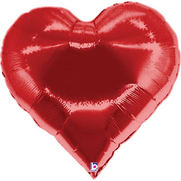 Casino Hearts Helium Foil Giant Balloon 89cm / 35 in
