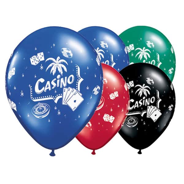 Casino Theme Latex Qualatex Balloon - 11 Inches / 28cm