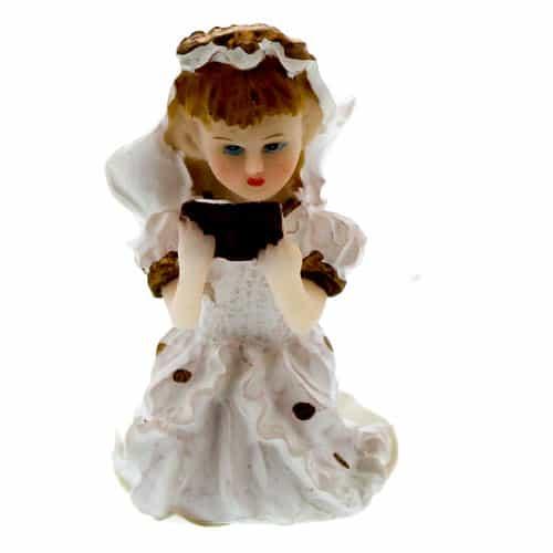 Ceramic Reading Girl Cake Topper