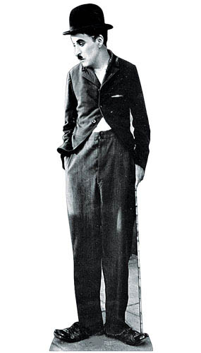 Charlie Chaplin Lifesize Cardboard Cutout - 177cm Product Gallery Image