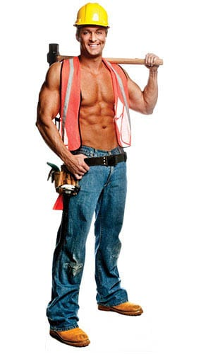 Chippendale Billy Construction Worker Lifesize Cardboard Cutout - 189cm Product Gallery Image