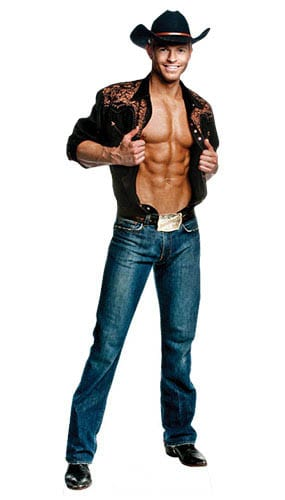 Chippendale Jaymes Vaughan Cowboy Lifesize Cardboard Cutout - 178cm