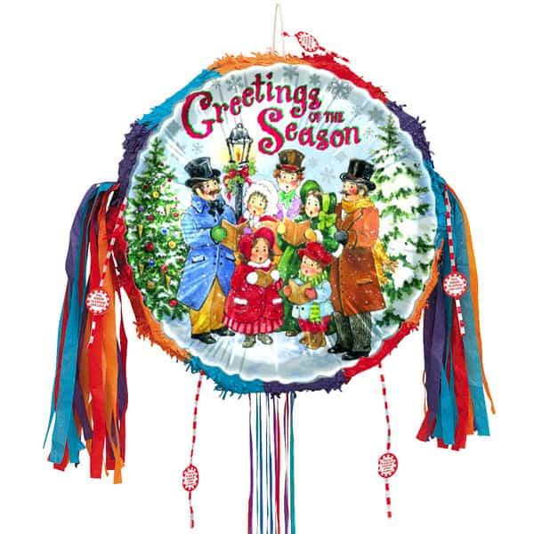 christmas-carolers-pull-string-pinata-product-image