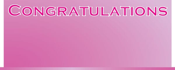 Congratulations Pink Billboard Design Large Personalised Banner - 10ft x 4ft