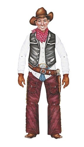 Cowboy Jointed Decorative Cutout - 36 Inches / 91cm
