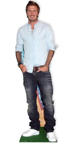David Beckham Casual Lifesize Cardboard Cutout 181cm - PRE-ORDER