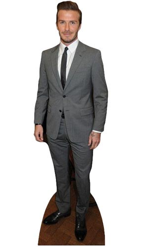 David Beckham Suit Lifesize Cardboard Cutout - 179cm