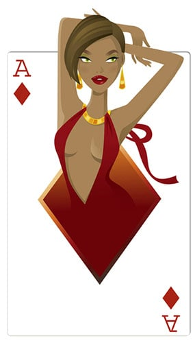 Diamonds Babe Casino Cardboard Cutout - 160cm Product Gallery Image