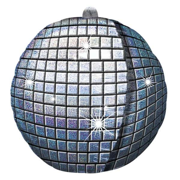 Disco Ball Holographic Helium Foil Balloon 38cm / 15 in Product Image