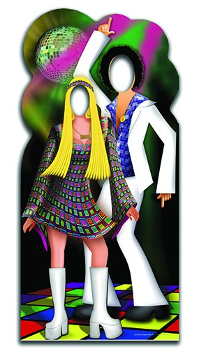 Disco Dancers Couple Stand In Cardboard Cutout - 183cm Product Image