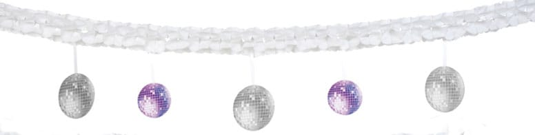 Disco Double Sided Printed Garland - 6m