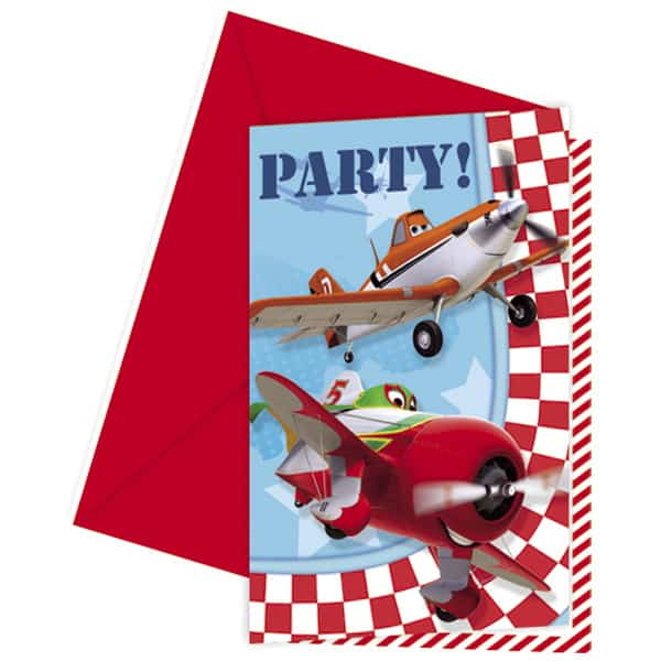 Disney Planes Invitations with Envelopes - Pack of 6