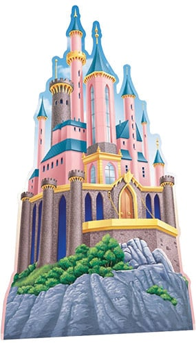 Disney Princesses Castle Lifesize Cardboard Cutout - 175cm Product Image