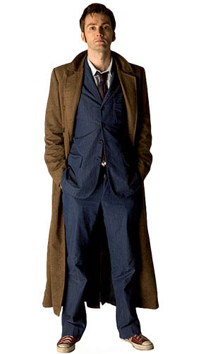 Dr Who 10th Doctor Coat Lifesize Cardboard Cutout - 183cm Product Gallery Image