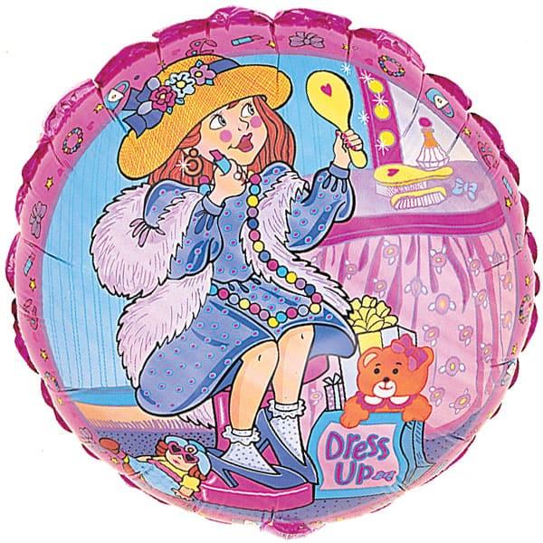 Dress Up Girl Foil Helium Balloon 46cm / 18Inch