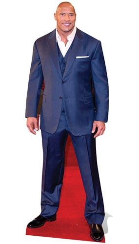 Dwayne Johnson Blue Suit Lifesize Cardboard Cutout 195cm Product Gallery Image