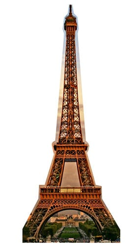 Eiffel Tower Lifesize Cardboard Cutout - 186cm Product Gallery Image