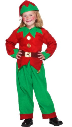 Elf Costume 3 - 5 Years Childrens Fancy Dress