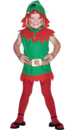 Elf Toddler Tunic 2 - 3 Years Childrens Fancy Dress