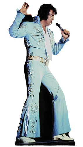 Elvis Blue Jumpsuit Lifesize Cardboard Cutout - 167cm Product Gallery Image