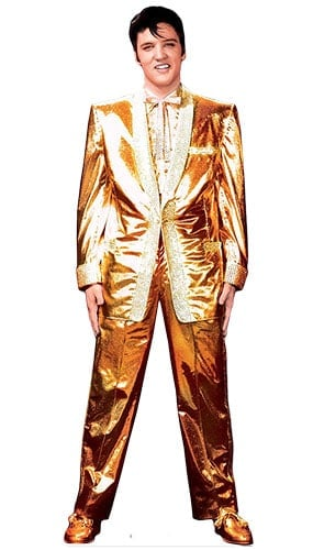 Elvis Gold Suit Lifesize Cardboard Cutout - 183cm Product Gallery Image