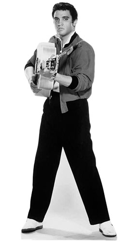 Elvis Presley Pointing His Guitar Lifesize Cardboard Cutout - 180cm Product Gallery Image