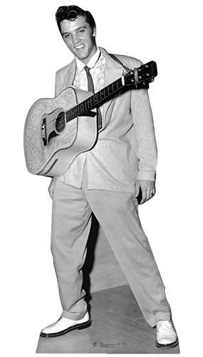 Elvis with Hanging Guitar Lifesize Cardboard Cutout - 188cm Product Image