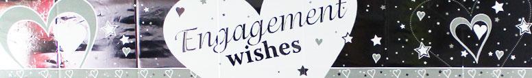 Engagement Wishes Foil Banner – 9 Ft / 274cm