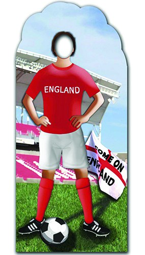 England Footballer Stand In Cardboard Cutout - 183cm Product Gallery Image