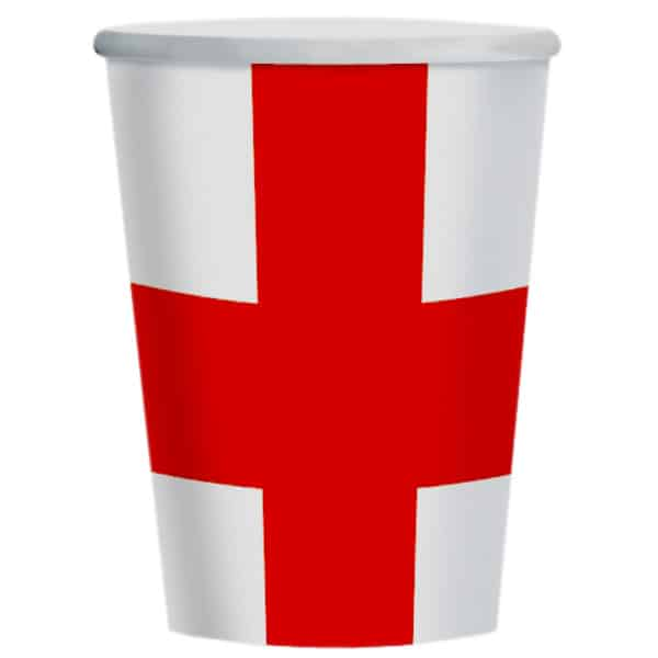England Themed Paper Cup 266ml