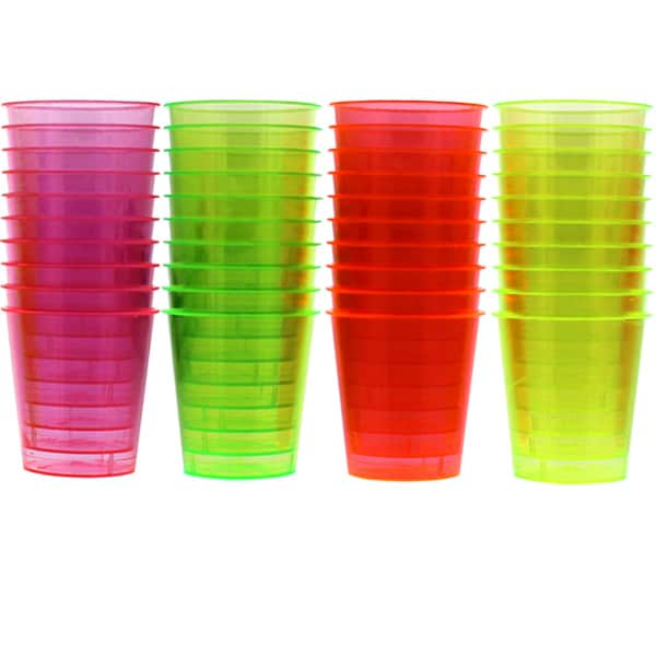 Essential Neon Shot Glasses 20ml - Pack of 36