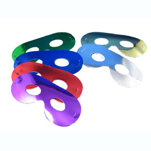 Eye Masks Foil Single Assorted Colours Partyramacouk