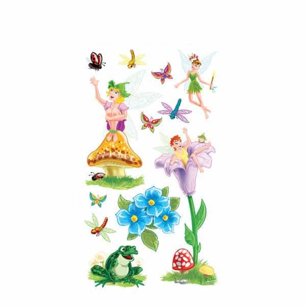 Fairies and Flowers Peel-N-Place