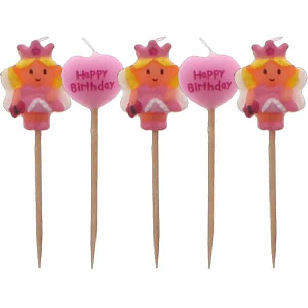 Fairy Princess Birthday Candles - Pack of 5