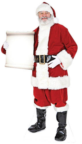 Father Christmas Small Sign Lifesize Cardboard Cutout - 183cm Product Gallery Image