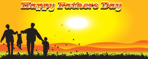 Happy Fathers Day Sunset Design Small Personalised Banner - 4ft x 2ft